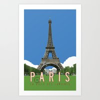 Paris Travel Poster - Vi… Art Print