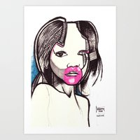 native Art Prints featuring Native by Joseph Walrave
