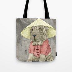Shar Pei On The Great Wa… Tote Bag