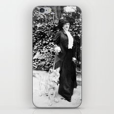 Countess Troubetskoy and Fang the wolf iPhone & iPod Skin