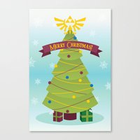 A Triforce Christmas Canvas Print