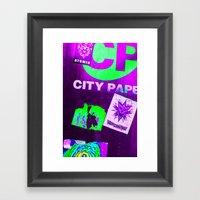 City Paper. Framed Art Print