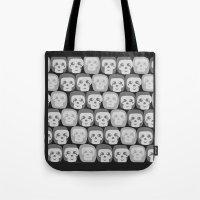 Boo - Skulls Pattern Tote Bag
