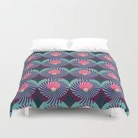HUKUMU - peacock Duvet Cover