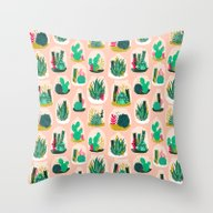 Terrariums - Cute Little… Throw Pillow