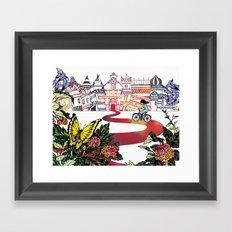 Summer Cycling Framed Art Print