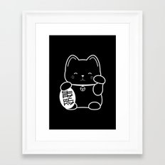 Stay Lucky BLK Framed Art Print