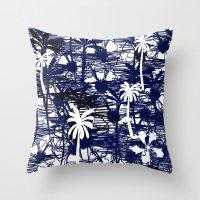 Blue Tree Throw Pillow