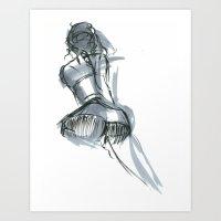 Kneel Art Print