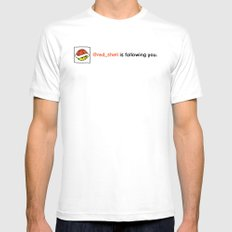 @red_shell is following you. White Mens Fitted Tee SMALL