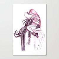 Tombstone Kiss Canvas Print