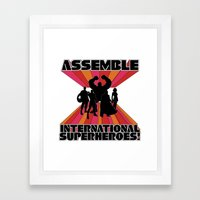 International Superheroes Framed Art Print