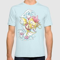 Something Seems a Little Fishy Mens Fitted Tee Light Blue SMALL