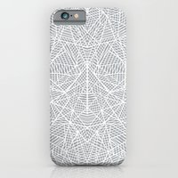 Abstract Lace On Grey iPhone 6 Slim Case