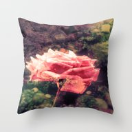 Mystery Rose Throw Pillow