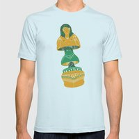 matrioch-coquine Mens Fitted Tee Light Blue SMALL