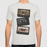 Cassettes Lana Lorde Marina Mens Fitted Tee Silver SMALL