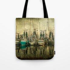 Shrimp Boat Lineup Tote Bag