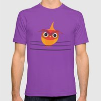 Owl On A Wire Mens Fitted Tee Ultraviolet SMALL