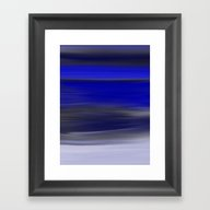 Dark Night Seascape Abst… Framed Art Print