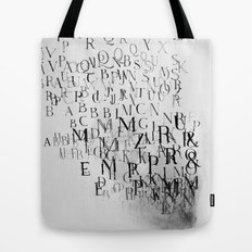 Typography and  the Black Hole Tote Bag