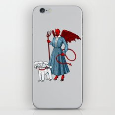 Devil With A Blue Dress On iPhone & iPod Skin