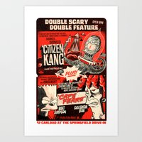 Double Scary Double Feat… Art Print