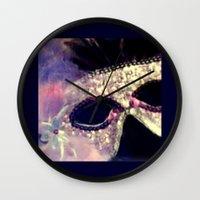Mardi Gras Mask Wall Clock