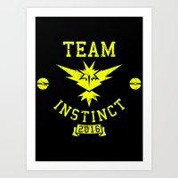 Team Instinct Art Print
