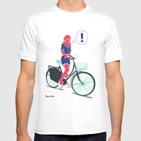 LE COOL GAL Mens Fitted Tee White SMALL