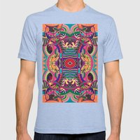 Psychedelic Daze Mens Fitted Tee Tri-Blue SMALL