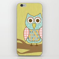 Owl on Tree Branch iPhone & iPod Skin