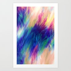 Paint Feathers in the Sky Art Print