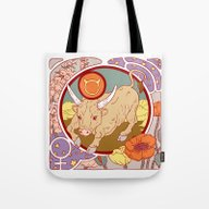 Tote Bag featuring Happy Birthday, Taurus! by Julia Minamata