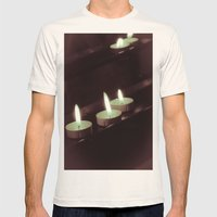 split toning candels Mens Fitted Tee Natural SMALL