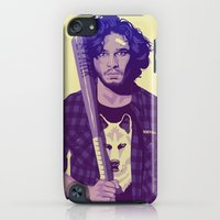 iPod Touch Cases featuring GAME OF THRONES 80/90s ERA CHARACTERS - Jon Snow by Mike Wrobel