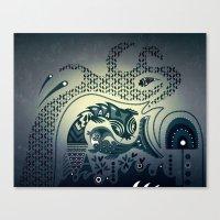 Midnight Swirls Canvas Print