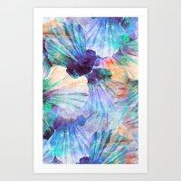 Ocean seashells Art Print
