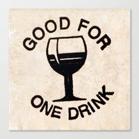 Wooden Nickel: Good For One Drink Canvas Print