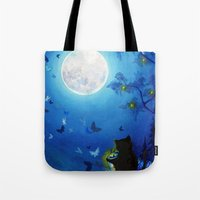 Butterflies and Fairy Lanterns Tote Bag