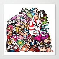 歌舞伎 - JAPANESE KAB… Canvas Print