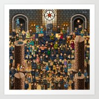 Super Game Of Thrones Art Print