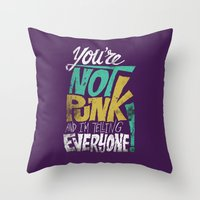 Not Punk Throw Pillow