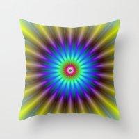 Sun Beam Flower Throw Pillow