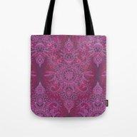 Magenta, Pink & Coral Pr… Tote Bag