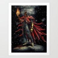 Epic Vincent Valentine F… Art Print