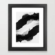 White Isolation Framed Art Print