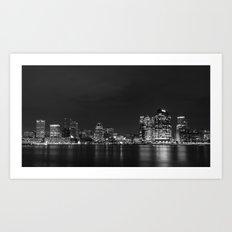 Baltimore Nighttime Skyline V.2 Art Print