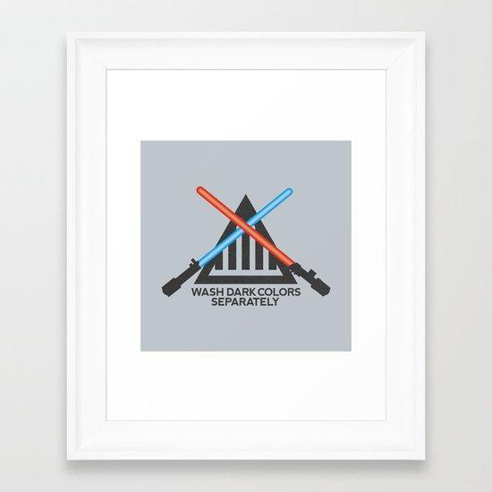 Jedi Care Instructions Framed Art Print