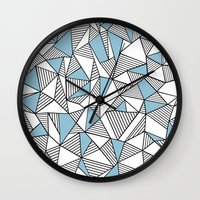 Abstraction Lines Sky Bl… Wall Clock